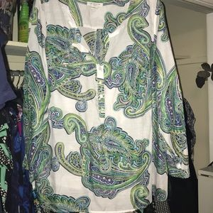 Liz Claiborne Woman Paisley Tunic, Worn Once, 3X